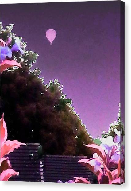 Hot Air Balloons Canvas Print - Hot Air Balloon Garden by Candy Floss Happy