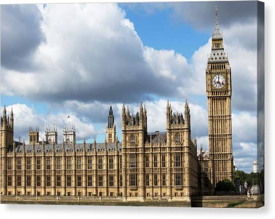 Palace Of Westminster Canvas Print - Houses Of Parliament by Mark Thomas/science Photo Library
