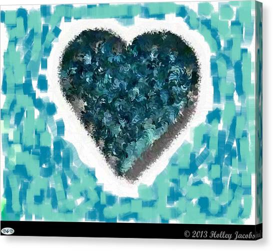 How Do I Live Teal Canvas Print by Holley Jacobs