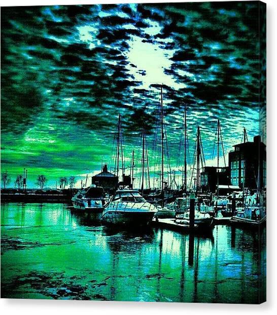 Drake Canvas Print - Hull Marina!! by Chris Drake