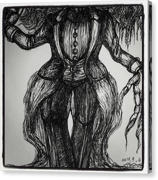 Gothic Art Canvas Print - Human by Akiko Okabe