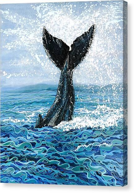 Humpback Flukes Canvas Print