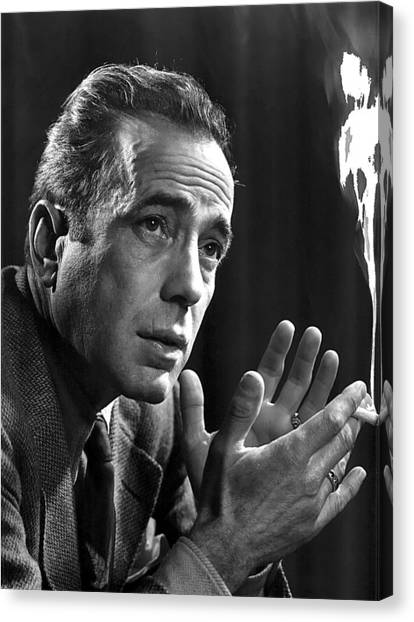 Humphrey Bogart Portrait 2 Karsh Photo Circa 1954-2014 Canvas Print