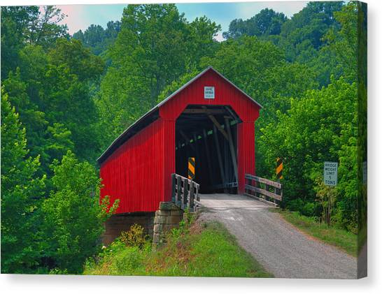 Hune Covered Bridge Canvas Print