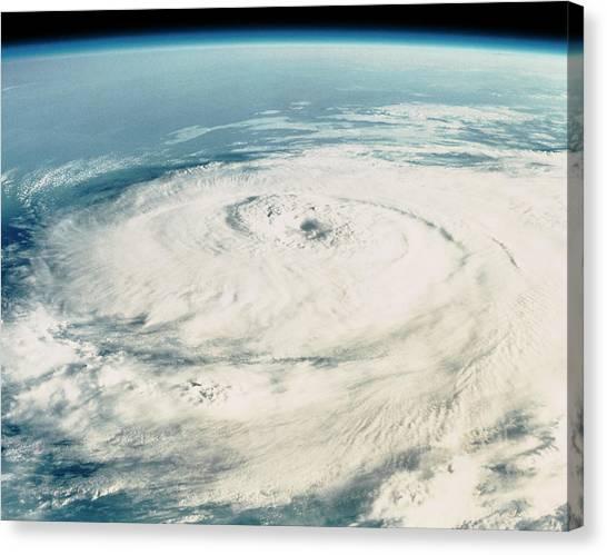 Hurricane Elena Canvas Print by Nasa/science Photo Library