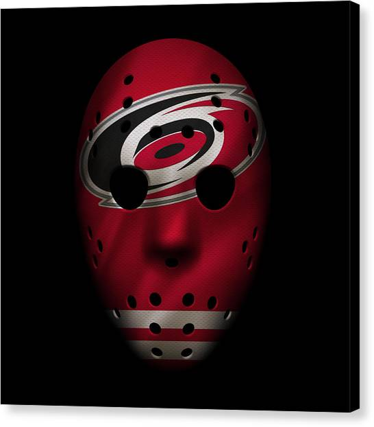 Carolina Hurricanes Canvas Print - Hurricanes Jersey Mask by Joe Hamilton