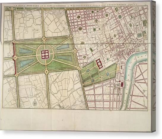 Hyde Park Canvas Print - Hyde Park by British Library