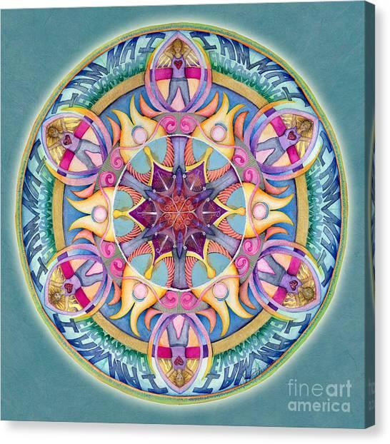 I Am Enough Mandala Canvas Print