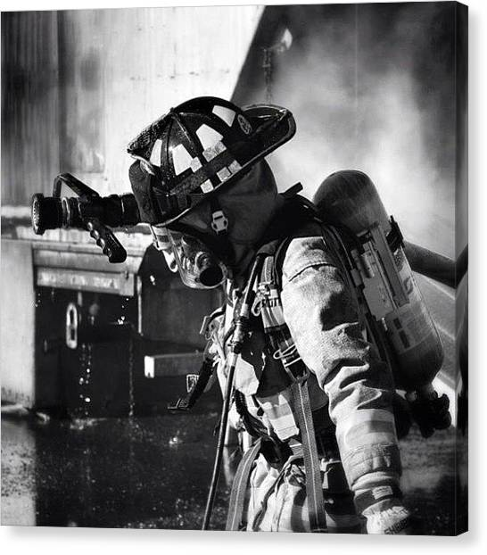 Firefighters Canvas Print - #iaff #fire #firefighter #fireman by James Crawshaw