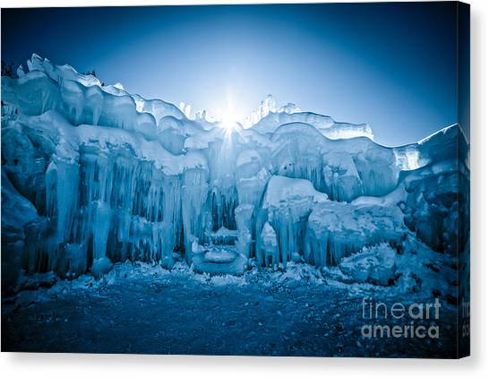 Loons Canvas Print - Ice Castle by Edward Fielding