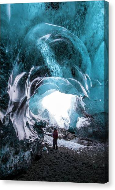 Ice Caves Canvas Print - Ice Cave Entrance by Dr Juerg Alean