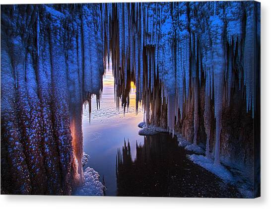 Ice Caves Canvas Print - Ice Cave by Phil Koch