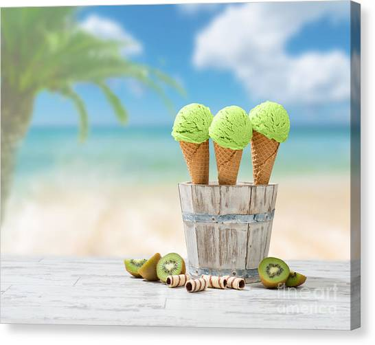 Kiwis Canvas Print - Ice Creams  by Amanda Elwell