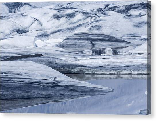 Vatnajokull Glacier Canvas Print - Icebergs, Hoffellsjokull Glacier by Panoramic Images