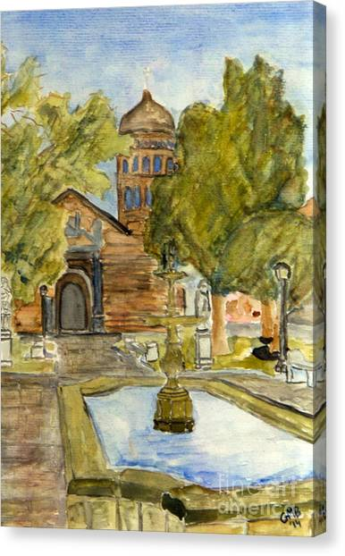 Iglesia En La Serena Canvas Print by Greg Mason Burns