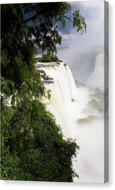 Iguazu Falls Canvas Print - Iguacu (iguazu) Falls, Cataratta Foz by Peter Adams