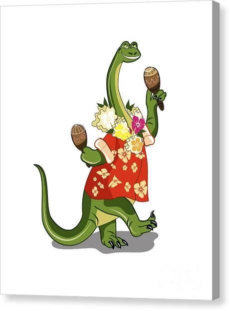 Brontosaurus Canvas Print - Illustration Of A Brontosaurus Playing by Stocktrek Images