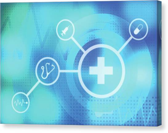 Illustration Of Medical Signs Canvas Print by Fanatic Studio / Science Photo Library