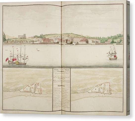 Principals Canvas Print - Illustration Of Sheerness Harbour by British Library