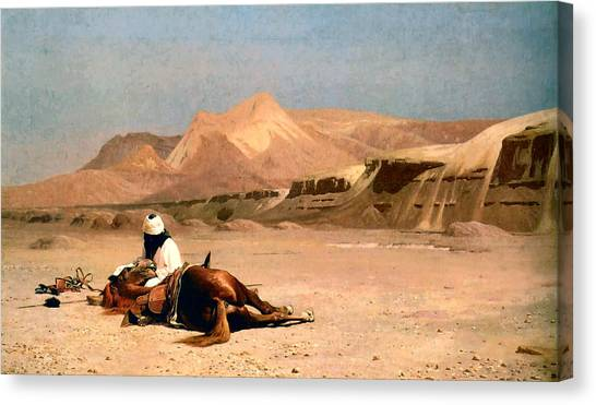 Arabian Desert Canvas Print - In The Desert by Jean-Leon Gerome