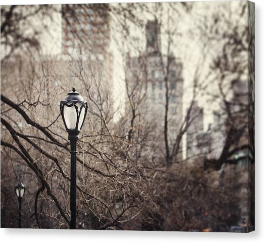In The Shadow Of The Upper East Side  Canvas Print by Lisa Russo