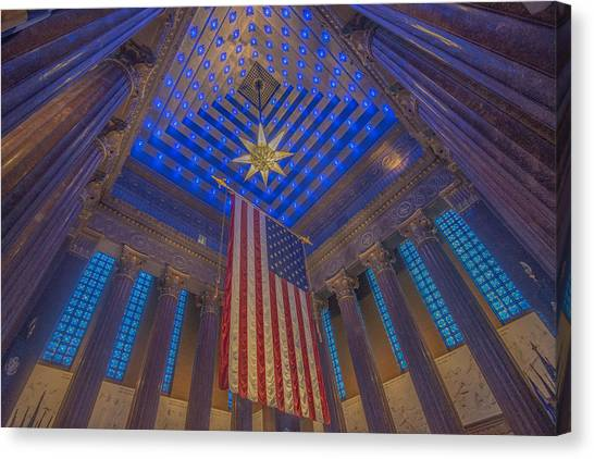 Indiana War Memorial Shrine  Canvas Print