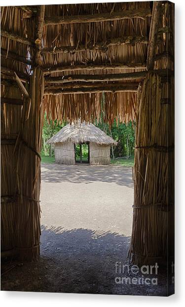 Canvas Print featuring the photograph Indigenous Tribe Huts In Puer by Bryan Mullennix