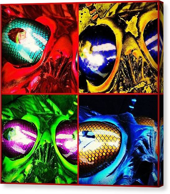 Ufos Canvas Print - Insectoid Choir by Urbane Alien