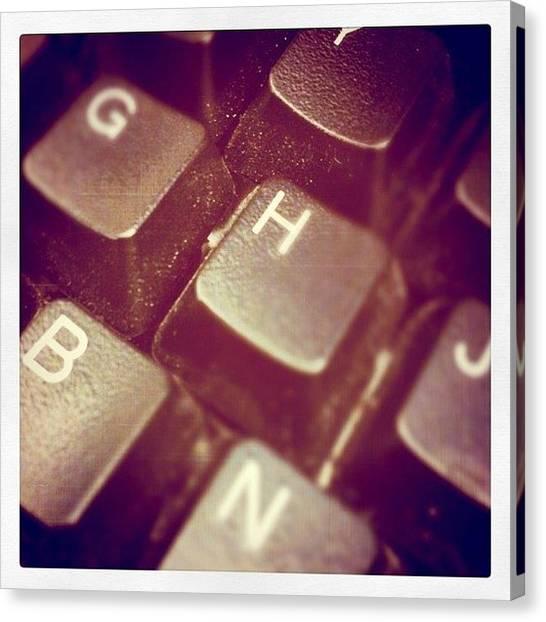 Typewriter Canvas Print - Instagram Photo by Nick Stone