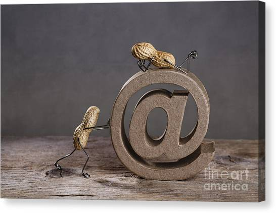 Communications Canvas Print - Internet by Nailia Schwarz