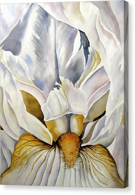 Into The Iris Canvas Print by Alfred Ng