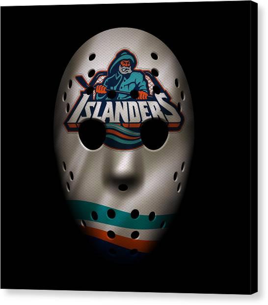 New York Islanders Canvas Print - Islanders Jersey Mask by Joe Hamilton