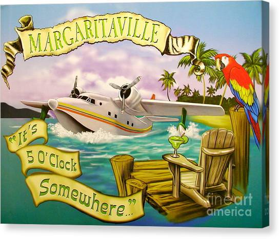 Salt Canvas Print - It's 5 O'clock Somewhere by Desiderata Gallery