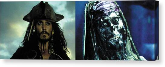 Orlando Bloom Canvas Print - Jack Sparrow by Jack Hood