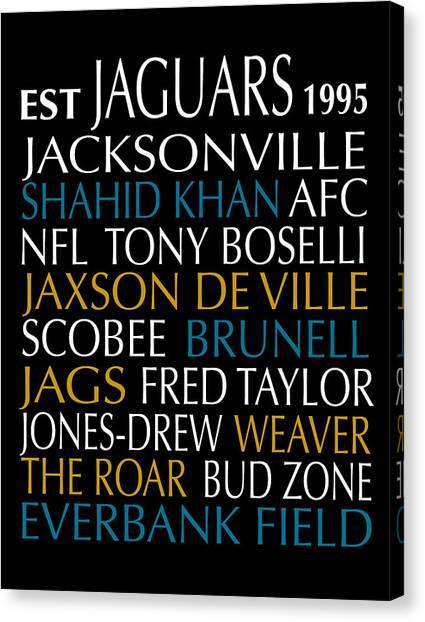 Jacksonville Jaguars Canvas Print - Jacksonville Jaguars by Jaime Friedman