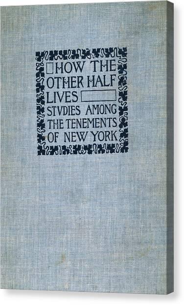 Half Life Canvas Print - Jacob Riis (1849-1914) by Granger