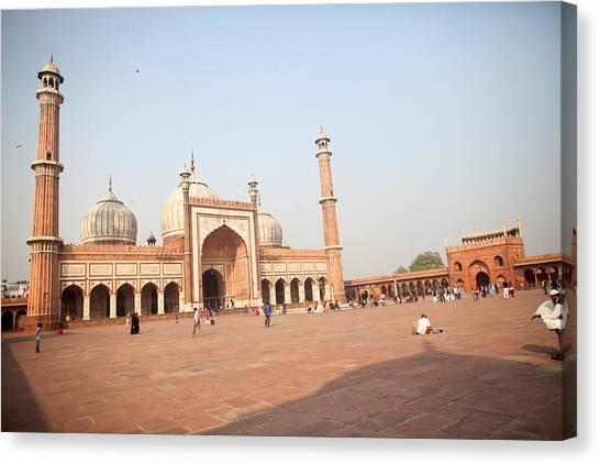Jama Masjid, New Delhi, India Canvas Print by BDphoto