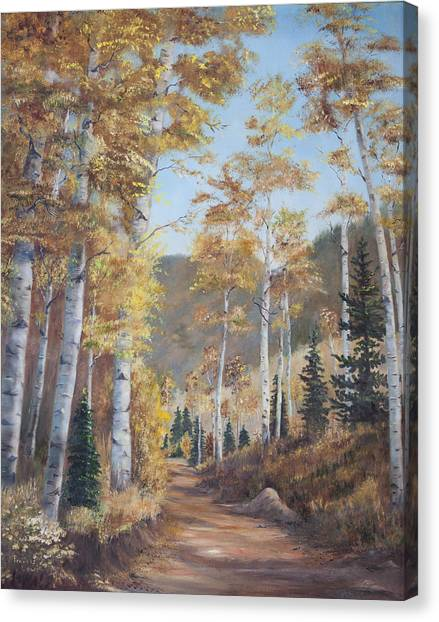 James Lewis Canvas Print - Cathedral Of The Aspens by Frances Lewis