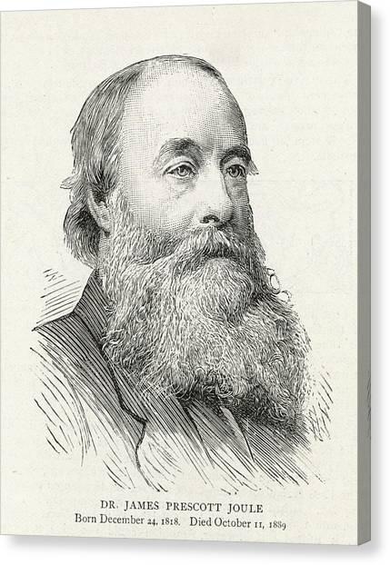 James Prescott Joule (1818-1889) Canvas Print by  Illustrated London News Ltd/Mar
