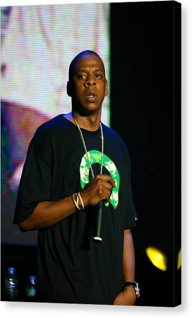 Hip Hop Canvas Print - Jay Z by Stephen Browne