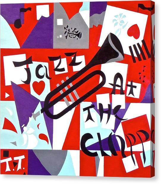 University Of Iowa Canvas Print - Jazz At The Clapp by Troy Thomas