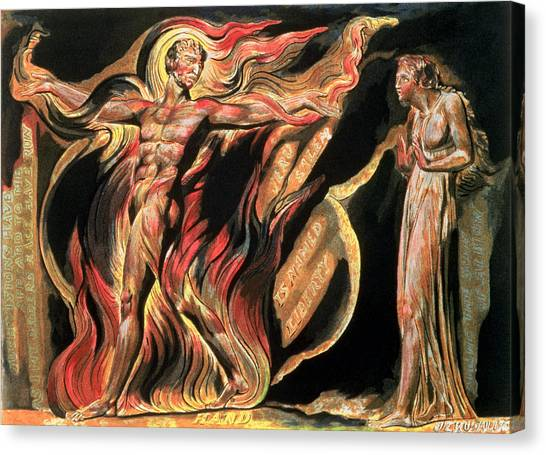 Apparition Canvas Print - Jerusalem The Emanation Of The Giant Albion by William Blake