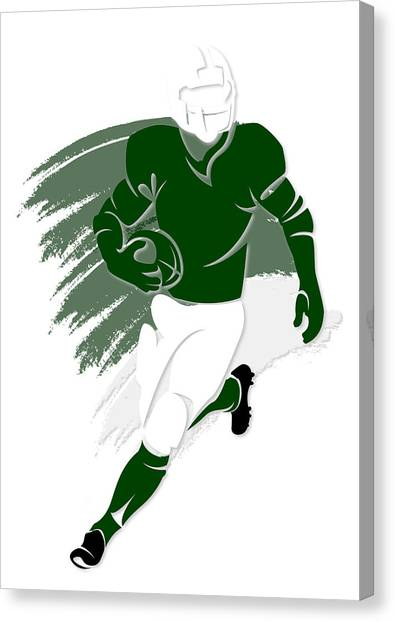 New York Jets Canvas Print - Jets Shadow Player2 by Joe Hamilton