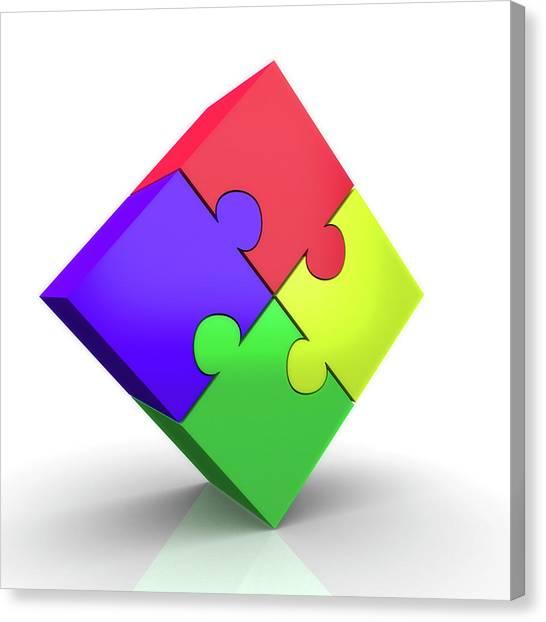 Jigsaw Puzzle Canvas Print by Wladimir Bulgar