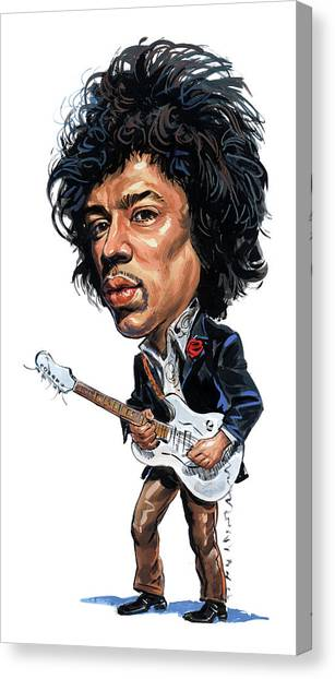 Jimi Hendrix Canvas Print - Jimi Hendrix by Art