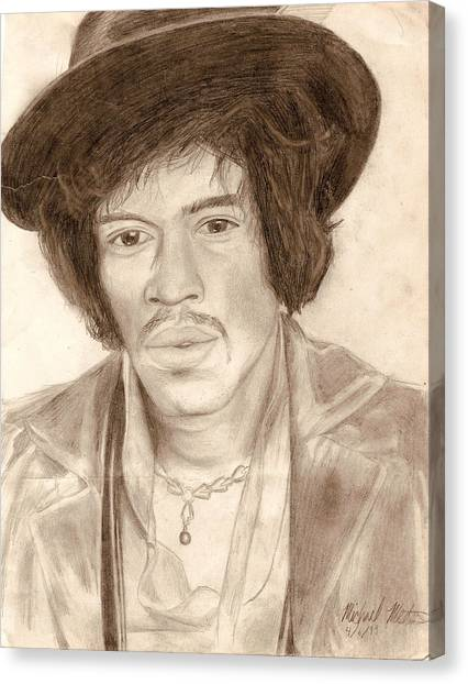 Jimi Hendrix Canvas Print by Michael Mestas