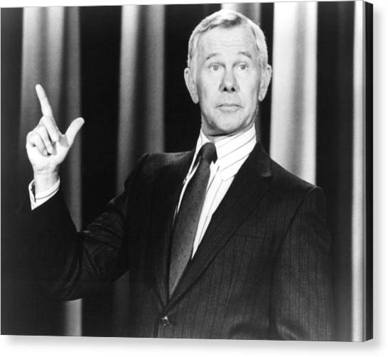Johnny Carson In The Tonight Show Starring Johnny Carson  Canvas Print