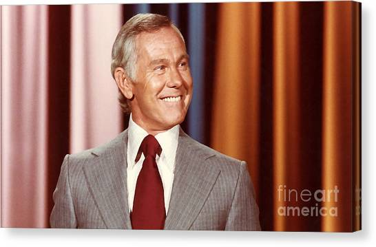 Johnny Carson Canvas Print - Johnny Carson by Marvin Blaine