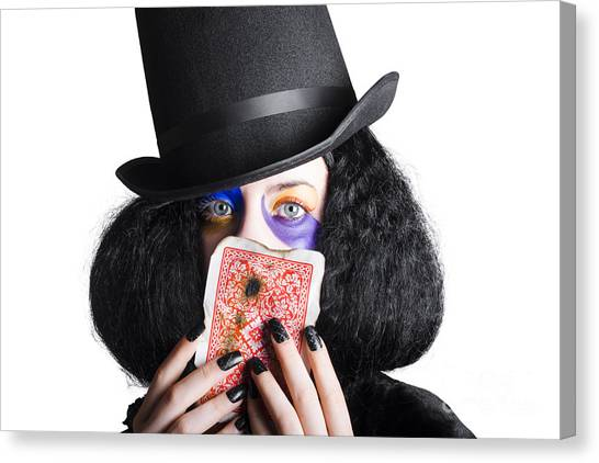 Hat Trick Canvas Print - Joker With Burnt Playing Card by Jorgo Photography - Wall Art Gallery