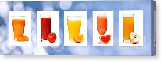 Grapefruits Canvas Print - Juices by Elena Elisseeva